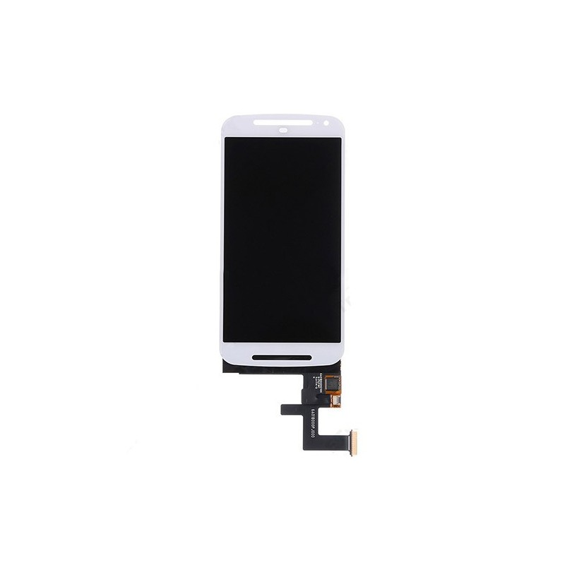 LCD Display and Digitizer Touch Screen for Motorola Moto G2 G+1 XT1063 XT1068 White (Aftermarket)