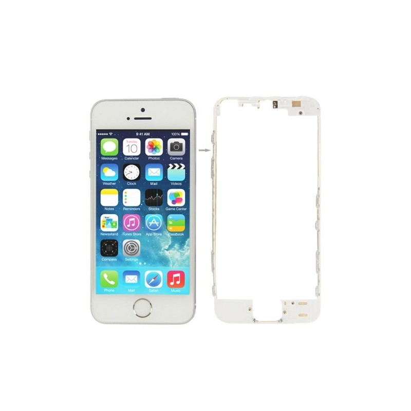 b94cef11b5a Touch Screen Frame with Adhesive Tape Sticker for iPhone 5S SE White Ori