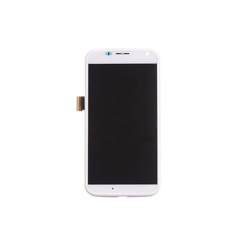 LCD Display and Digitizer Touch Screen with Middle Frame for Motorola Moto X XT1052 XT1058 XT1060 White Ori without any Logo