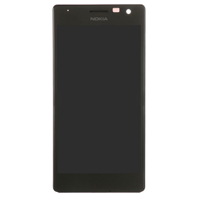 66a8f44b090 LCD and Digitizer Touch Screen With Frame for Nokia Lumia 735 Black Third  Party